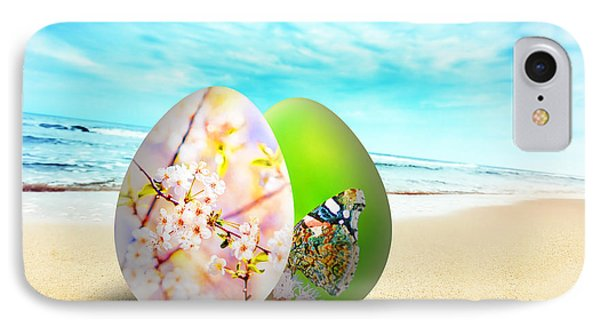 Colorful Easter Eggs On Sunny Beach Phone Case by Michal Bednarek