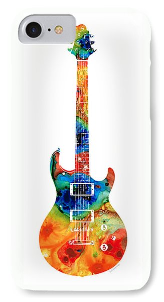 Colorful Electric Guitar 2 - Abstract Art By Sharon Cummings IPhone Case