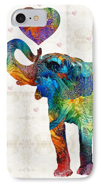 Colorful Elephant Art - Elovephant - By Sharon Cummings IPhone Case by Sharon Cummings