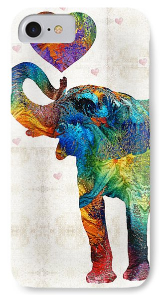 Colorful Elephant Art - Elovephant - By Sharon Cummings IPhone 7 Case