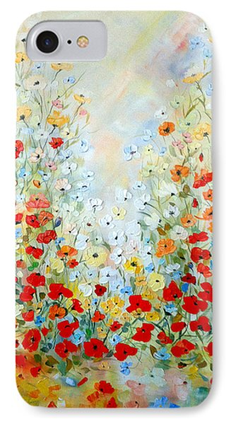 IPhone Case featuring the painting Colorful Field Of Poppies by Dorothy Maier
