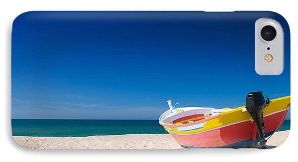 Colorful Fishing Boat Algarve Portugal Phone Case by Amanda Elwell