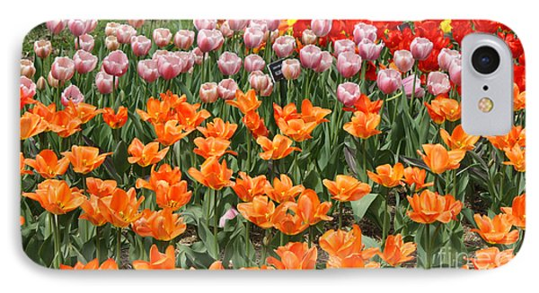 Colorful Flower Bed Phone Case by John Telfer