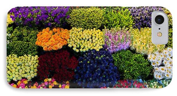 Colorful Flowers Background Phone Case by Michal Bednarek