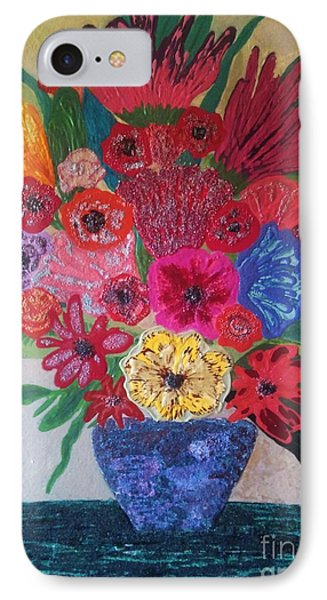 IPhone Case featuring the painting Colorful Flowers by Jasna Gopic