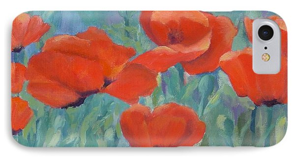 Colorful Flowers Red Poppies Beautiful Floral Art IPhone Case