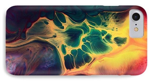 Colorful Fluid Art-wave Of Fire By Kredart IPhone Case by Serg Wiaderny