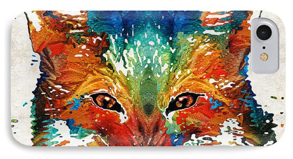 Colorful Fox Art - Foxi - By Sharon Cummings IPhone Case by Sharon Cummings
