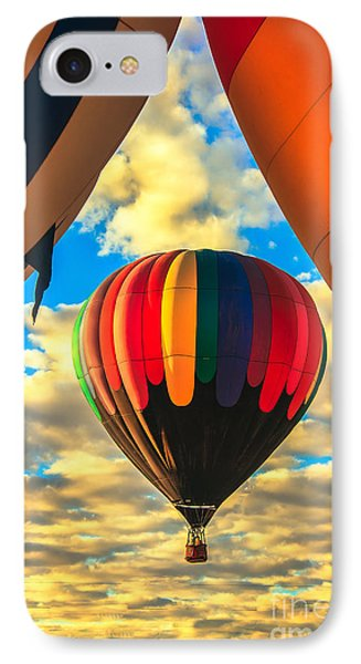 Colorful Framed Hot Air Balloon Phone Case by Robert Bales