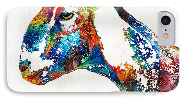 Colorful Goat Art By Sharon Cummings IPhone Case