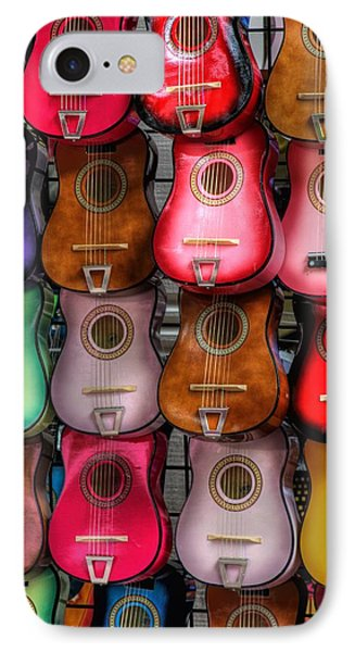 Colorful Guitars Phone Case by Tony  Colvin