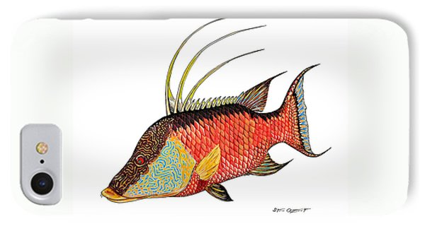 Colorful Hogfish IPhone Case by Steve Ozment