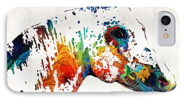 Colorful Horse Art - Wild Paint - By Sharon Cummings IPhone Case