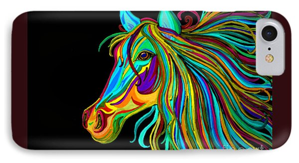 Colorful Horse Head 2 Phone Case by Nick Gustafson