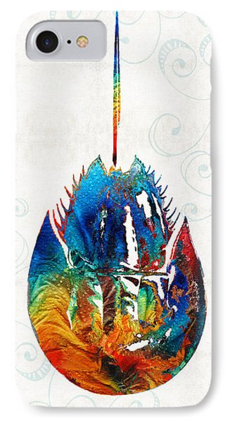 Colorful Horseshoe Crab Art By Sharon Cummings IPhone Case