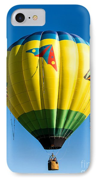Colorful Hot Air Balloon Over Vermont IPhone Case by Edward Fielding