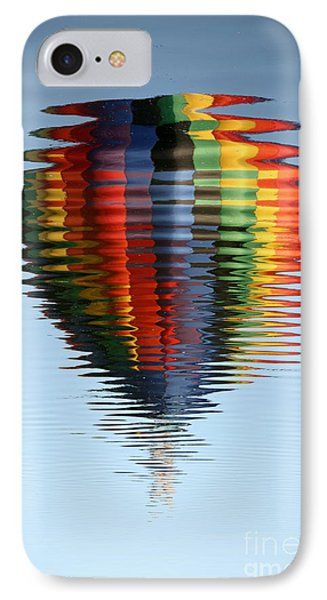 Colorful Hot Air Balloon Ripples Phone Case by Carol Groenen