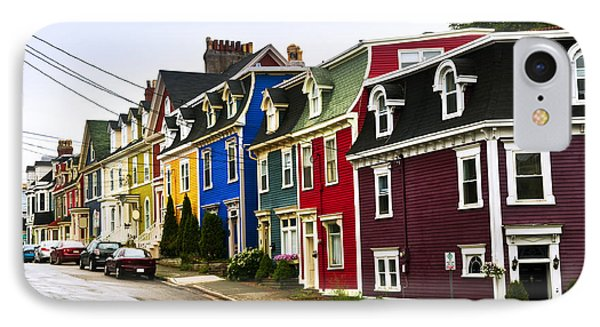 Colorful Houses In Newfoundland IPhone Case by Elena Elisseeva