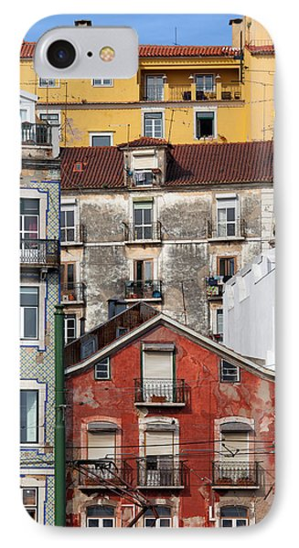 Colorful Houses In The City Of Lisbon Phone Case by Artur Bogacki