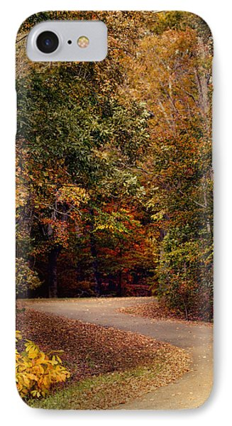 Colorful Journey - Autumn Scene IPhone Case by Jai Johnson