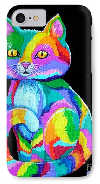 Colorful Kitten Phone Case by Nick Gustafson