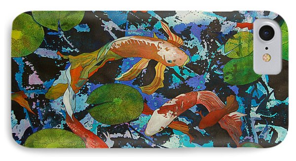 Colorful Koi IPhone Case by Terry Holliday