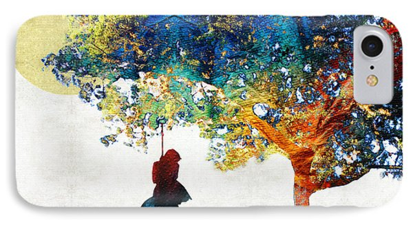 Colorful Landscape Art - The Dreaming Tree - By Sharon Cummings IPhone Case