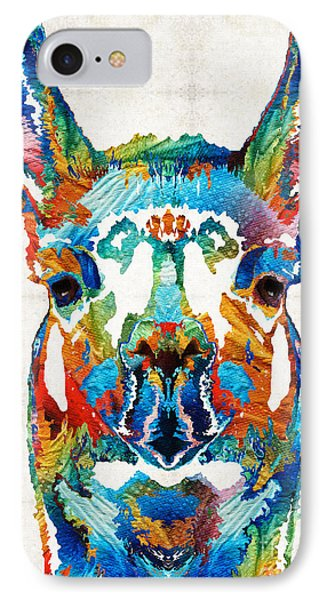 South America iPhone 7 Case - Colorful Llama Art - The Prince - By Sharon Cummings by Sharon Cummings