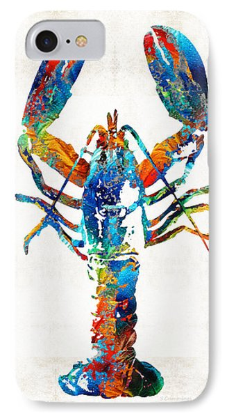 Shore iPhone 7 Case - Colorful Lobster Art By Sharon Cummings by Sharon Cummings