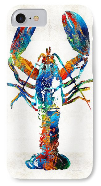 Colorful Lobster Art By Sharon Cummings IPhone Case by Sharon Cummings