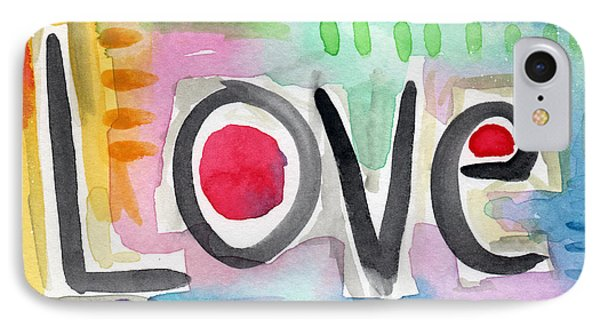 Colorful Love- Painting IPhone Case by Linda Woods