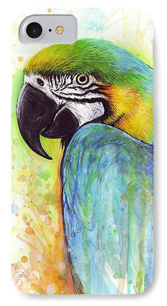 Macaw Painting IPhone 7 Case by Olga Shvartsur