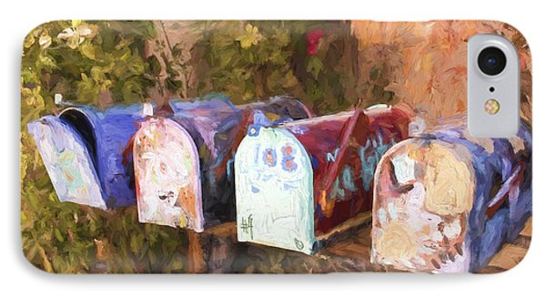 Colorful Mailboxes Santa Fe Painterly Effect IPhone Case
