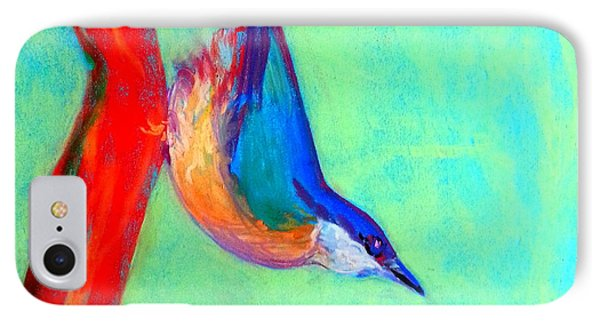 Colorful Nuthatch Bird IPhone Case by Sue Jacobi