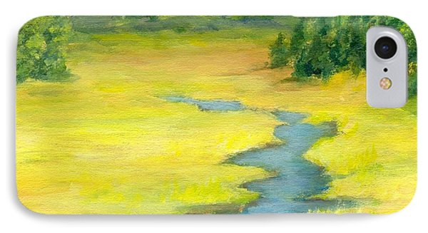 Colorful Original Landscape Painting Mountain Meadow IPhone Case