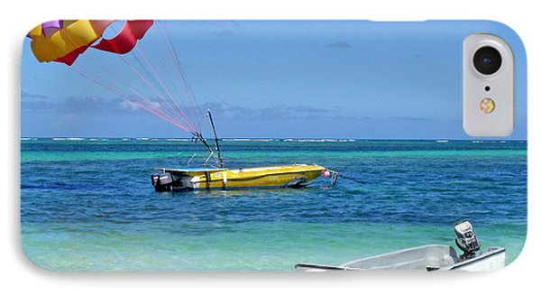 Colorful Parachute - Waiting To Parasail IPhone Case