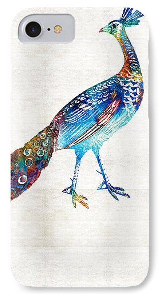Peacock iPhone 7 Case - Colorful Peacock Art By Sharon Cummings by Sharon Cummings