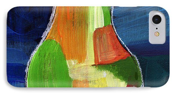 Colorful Pear- Abstract Painting IPhone Case by Linda Woods