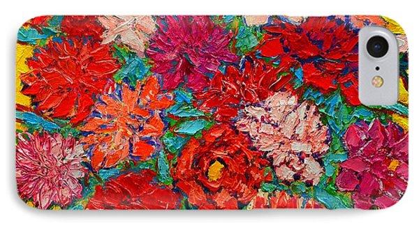 Colorful Peonies Phone Case by Ana Maria Edulescu