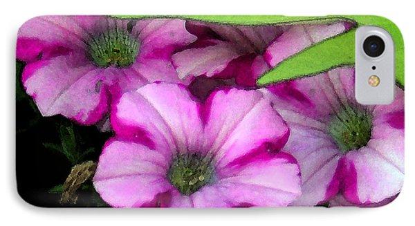 Colorful Petunias IPhone Case