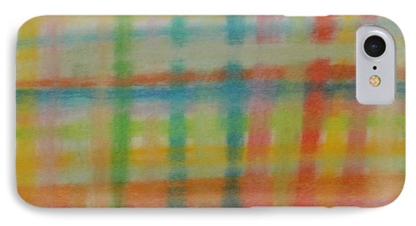 IPhone Case featuring the drawing Colorful Plaid by Thomasina Durkay