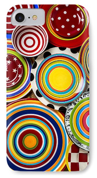 Colorful Plates IPhone Case by Garry Gay
