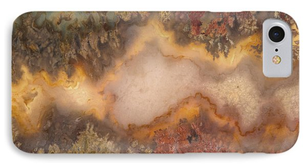 Colorful Plume Agate IPhone Case by Leland D Howard