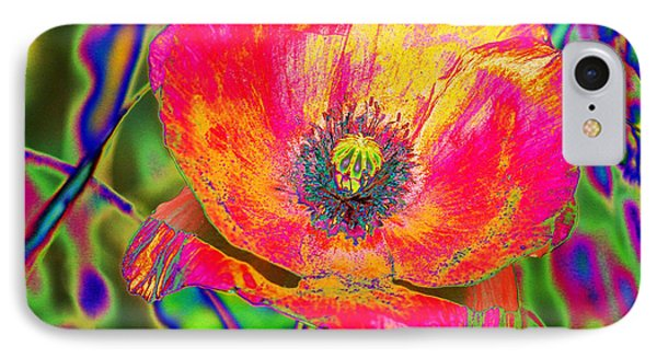 Colorful Poppy IPhone Case by Carol Lynch