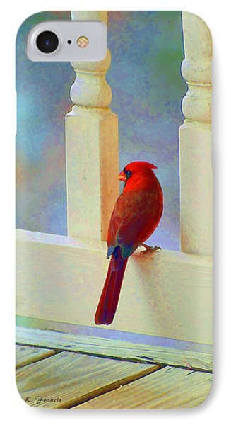 Colorful Redbird Phone Case by Kenny Francis