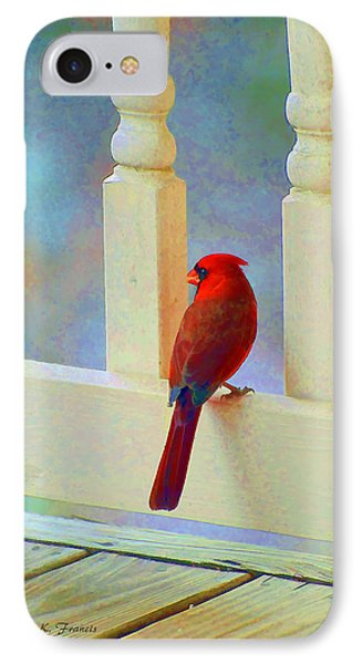 Colorful Redbird IPhone Case by Kenny Francis