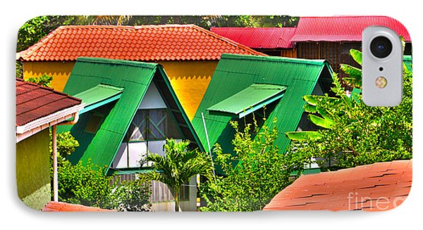 Colorful Rooftops In Costa Rica IPhone Case by Michelle Wiarda