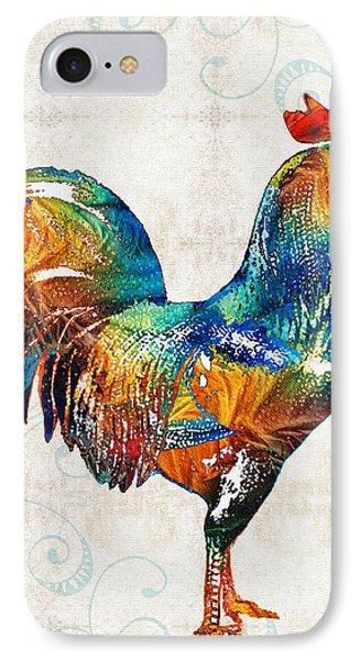 Colorful Rooster Art By Sharon Cummings IPhone 7 Case by Sharon Cummings