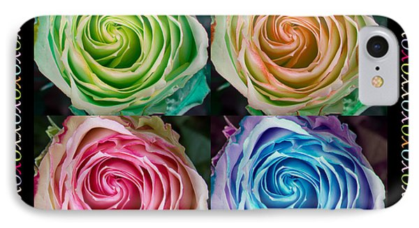 Colorful Rose Spirals Happy Mothers Day Hugs And Kissed Phone Case by James BO  Insogna