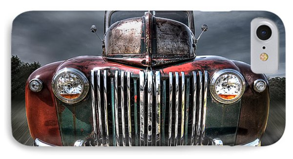 Colorful Rusty Ford Head On IPhone Case by Gill Billington